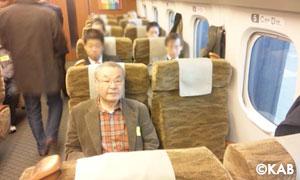 門垣会長in九州新幹線